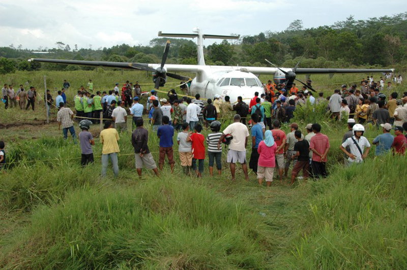 Crash of an ATR42-300 in Indonesia, 2010