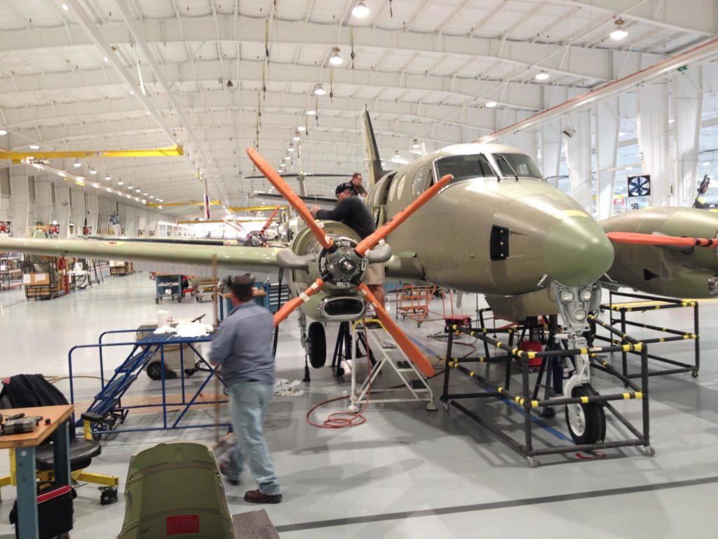 King Air production line